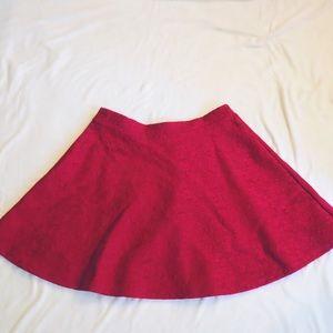 Forever 21 Red Skater Skirt